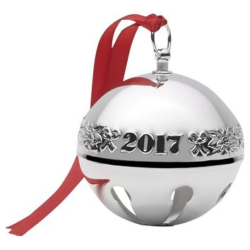 Wallace 2017 Silver Plated Sleigh Bell Ornament, 47th Edition
