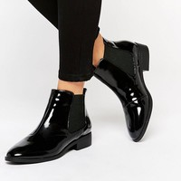 River Island | River Island Patent Point Ankle Boots at ASOS