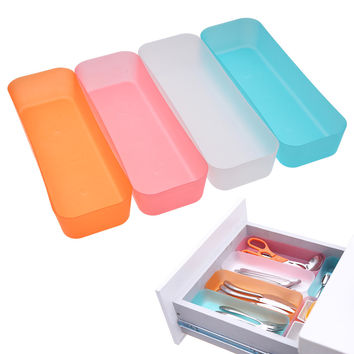 3 Sizes Adjustable Drawer Organizer Makeup Storage Box Jewelry Divider For DIY Home Kitchen Clear Tools New Arrival