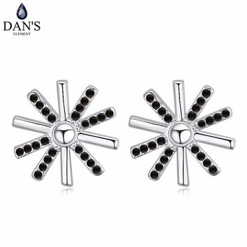 DAN'S 5 Colors Real Austrian crystals Stud earrings for women    Earrings s New Sale Hot  Round 120701