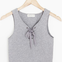 Hunter Lace Up Tank