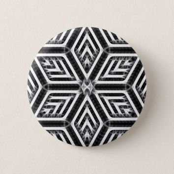 Abstract Diamond Pattern Pinback Button