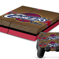 NBA Cavaliers Decal Sticker Skin For Playstation 4 PS4 Console+Controllers