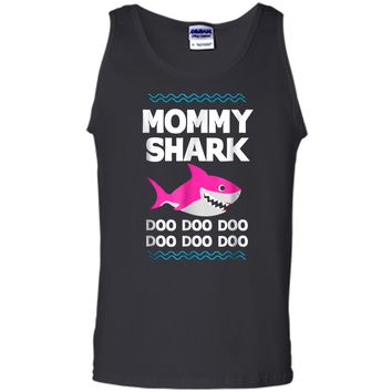 Mommy Shark Doo Doo  Funny Kids Video Baby Daddy Tank Top