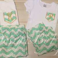 Mother daughter matching pajamas customizable examples in pictures