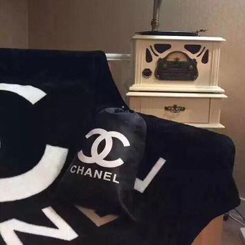 Chanel Conditioning Throw Blanket Quilt For Bedroom Living Rooms Sofa