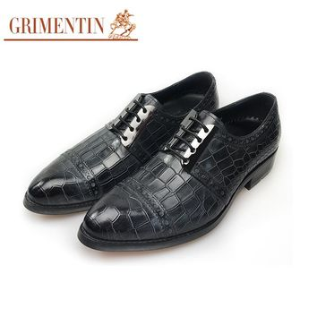 Luxury Men Shoes Designer Black Formal Business Shoes Genuine Leather
