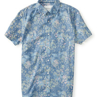 Aeropostale  Floral Chambray Woven Shirt