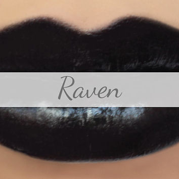 "Black Lipstick Sample - ""Raven"" (opaque black lipstick color, vegan) natural lip tint, balm, lip colour"