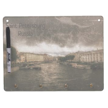 View to Fontanka River. St. Petersburg, Russia. Dry Erase Board With Keychain Holder