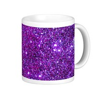 Purple Purple Sparkle Optical Illusion Art Coffee Mug