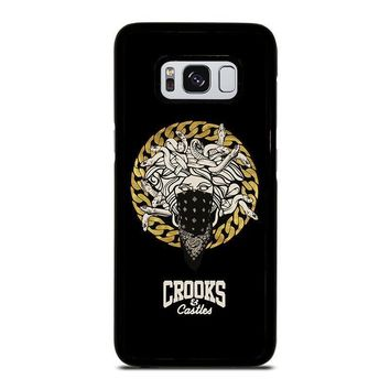 crooks and castles bandana samsung galaxy s3 s4 s5 s6 s7 edge s8 plus note 3 4 5 8  number 1