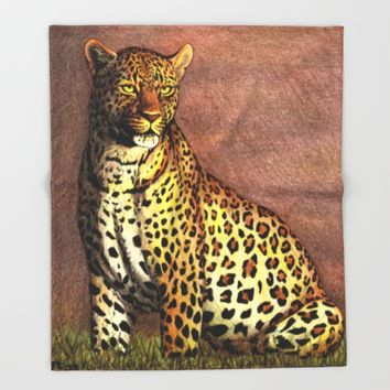 Panther Throw Blanket by Savousepate
