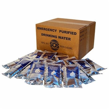 Emergency Drinking Water Pouches 4.225oz. Case-96