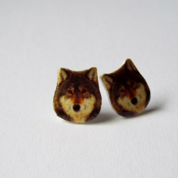Wolf Earrings Fun Novelty Gift