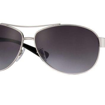 New Ray Ban Gradient Active RB3386 003/8G 63 Silver Black Sunglasses Fast Ship