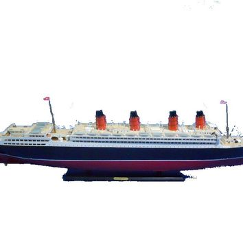 "RMS Aquitania Limited 50"" w/ LED Lights Model Cruise Ship"