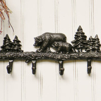 Cast Iron Bear Wall Hook - Choose Your Color - Colorful Cast and Crew
