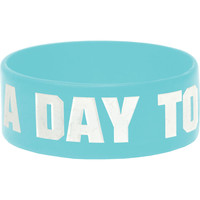 A Day To Remember Men's Logo Baby Blue Rubber Bracelet Blue
