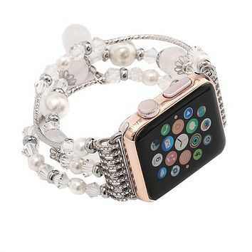Apple Watch Beaded Elastic Band