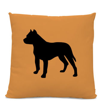 Pitbull Silhouette Pillow - Your Choice of Color - Pit bull Dog Pillow - dog breed silhouette pillow - dog home decor - Dog Lover Gift