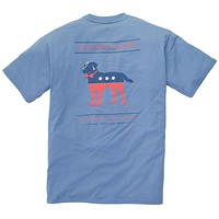 Party Animal Tee in Allure Blue by Southern Proper