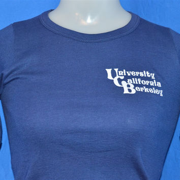 70s University of California Berkeley Champion Blue Bar t-shirt Extra-Small