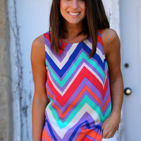 Smitten in Chevron Tank