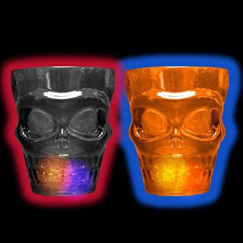 Light Up Skull Shot Glasses (Pack of 2)