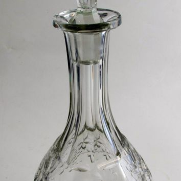 American Brilliant Period Cut Glass decanter grapes,  Antique  ABP