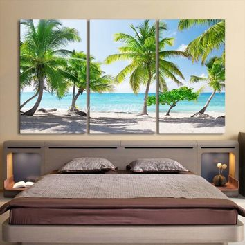 ALMUDENA Home Decoration Printed Canvas Paintings 3 Pieces Catalina Island Dominican Wall Art Canvas Pictures For Living Room