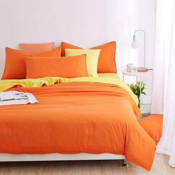 Soft and Comfortable Orange Bedding Sets