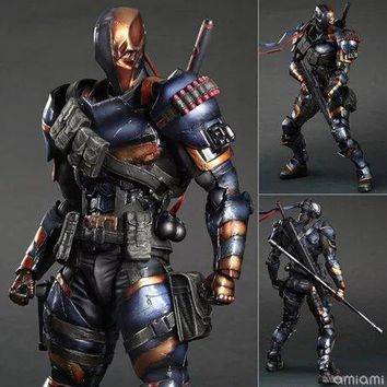Batman Dark Knight gift Christmas SQUARE ENIX Play Arts KAI DC Comics Batman: Arkham Origins Deathstroke PVC Action Figure Collectible Model Toy 27cm AT_71_6
