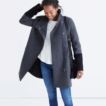 City Grid Coat in Colorblock : | Madewell