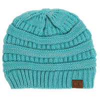 Slouchy CC Beanie Turquoise
