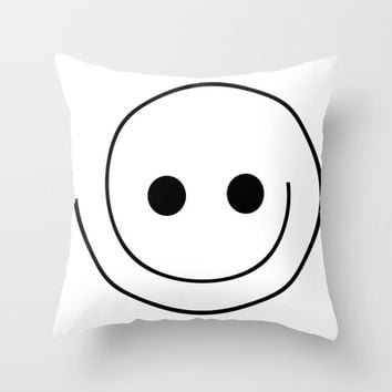 smile Throw Pillow by abeerhassan