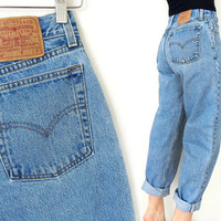 "Vintage 80s 90s High Waisted Levi's 560 Women's Jeans - Size 8 - Stone Washed Women's Loose Fit Boyfriend Jeans - 29"" Waist"