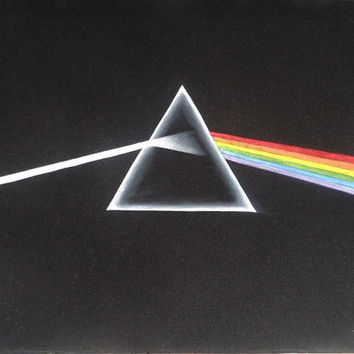 Pink Floyd Dark side of the moon black velvet oil painting handpainted signed art