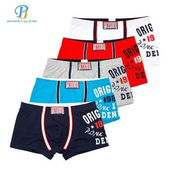 Pink Hero: Men's Boxer Brief Trunks 5 Pair Underwear Pack Stripped, Solid Colors or Solid Colors with Print