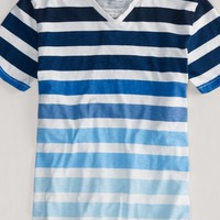 AEO Men's Ombre Stripe Tee (Fleet Navy)