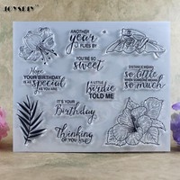 Birthday Thinking of You  Scrapbook DIY photo cards account rubber stamp clear stamp transparent stamp card DIY stamp 18*14cm