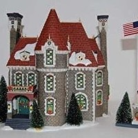 """Department 56 Christmas In The City """"The Consulate"""" (Set of 2)"""