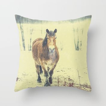 Wandering beauty Throw Pillow by HappyMelvin | Society6