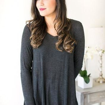 Don't Let Go Basic Charcoal Top