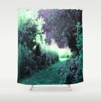 The Path Unknown Teal & Purple Shower Curtain by 2sweet4words Designs