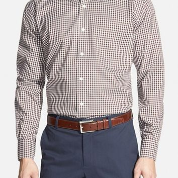 Men's Peter Millar 'Nanoluxe' Regular Fit Wrinkle Free Check Twill Sport Shirt,