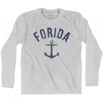 Florida State Anchor Home Cotton Adult Long Sleeve T-shirt