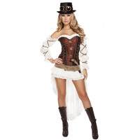 Roma Costume 4576- 7pc Sexy Steampunk Babe Women's Costume