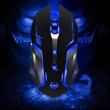 Malloom Gaming Mouse Led Finger mouse Rechargeable Wired Optical Positioning 3500 DPI For Computer Pc Laptop