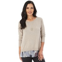 Women's Apt. 9® Button Back Sweater | null
